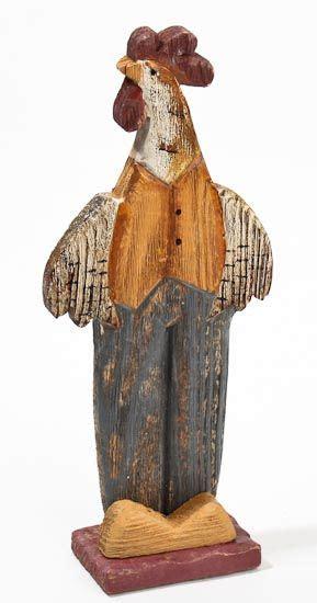 primitive wood crafts primitive wood carved rooster