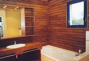 lambris salle de bain With lambris bois salle de bain