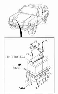 Honda Online Store   2000 Passport Battery Carrier Parts
