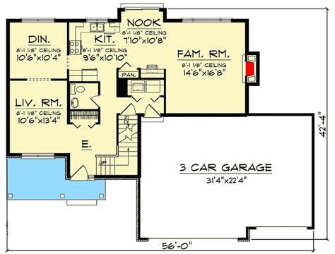 story landing overlooking entry  ah architectural designs house plans