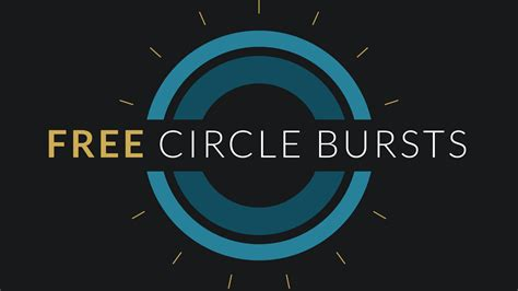 motion graphics templates free after effects template circle burst assets