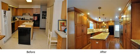 renovations before and after get the fresh and cool outlook inspiration with kitchen remodeling before after homesfeed
