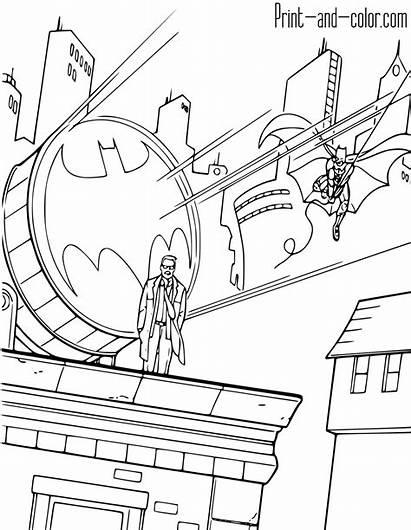 Batman Coloring Pages Bat Knight Dark Printable