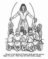 Joseph Famine Clipart Bible Egypt Coloring sketch template