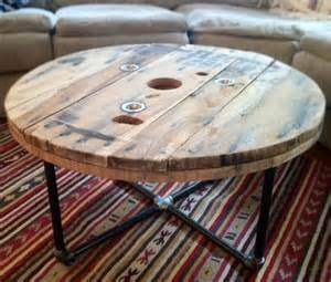 Wood Spool Coffee Table