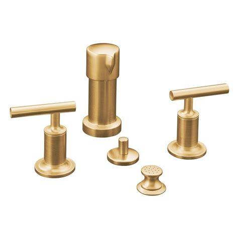 kohler purist faucet gold kohler purist 2 handle bidet faucet in vibrant moderne