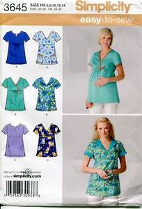 Maternity Nurse Simplicity 3645 Misses Maternity Regular Scrubs By
