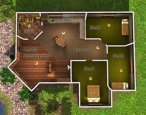 Sims 3 Legacy House Floor Plan by Mod The Sims Corner Lot Starter 3bd 1ba