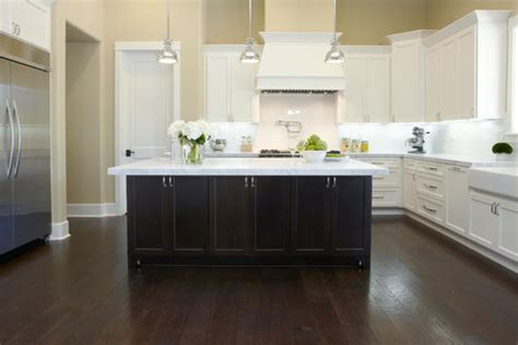stained kitchen cabinets are floors oak stained espresso are they engineered or 6456