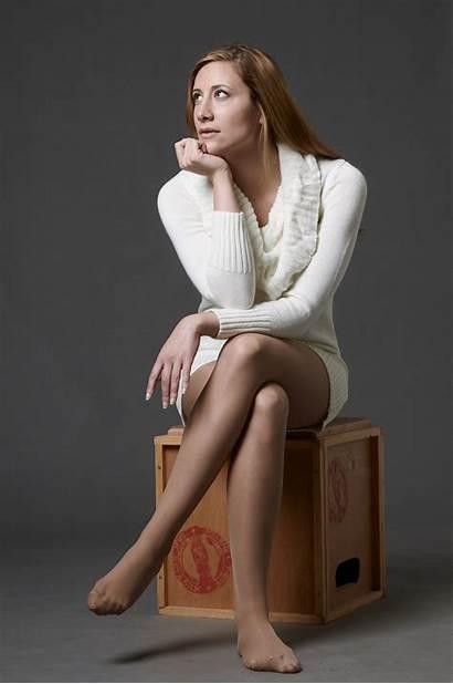 Thinking Woman Portrait Wearing Blonde Box Photographer