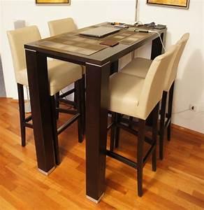 Kleiner Tisch Mit Stühlen : tresen esstisch buche mit 4 st hlen barstuhl wenge metallbeschlag ebay ~ Markanthonyermac.com Haus und Dekorationen