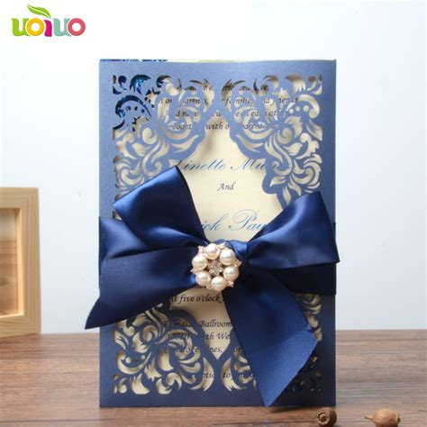 royal blue wedding invitation card paper wedding cards