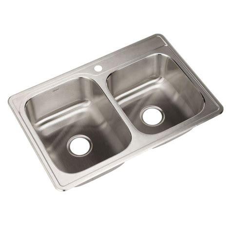 houzer sinks home depot houzer glowtone series drop in stainless steel 33 in 1