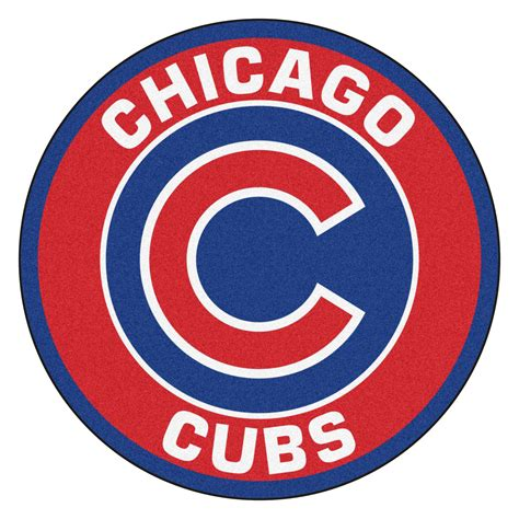 area rugs for chicago cubs logo roundel mat 27 quot area rug