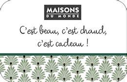Carte Cadeau Maison Du Monde by R 233 Ductions Et Promotions Maisons Du Monde Achat De Cartes