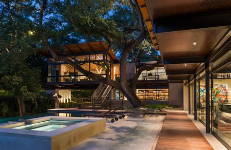 modern retreat   ravine built  heritage oak trees idesignarch interior design
