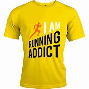 Tee Shirt Jaune Homme : t shirt running addict jaune homme boutique running addict ~ Melissatoandfro.com Idées de Décoration