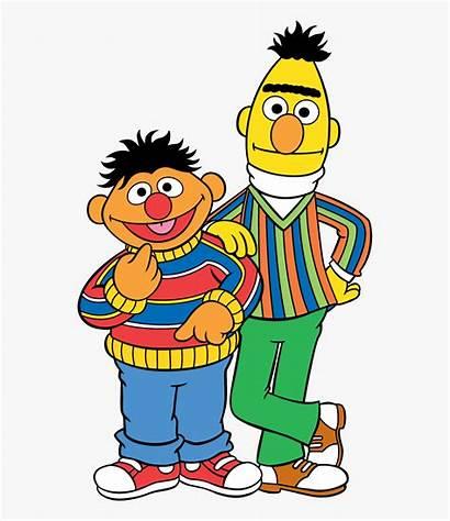 Sesame Ernie Bert Street Cartoon Clip Characters