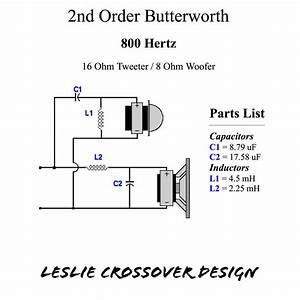 800 Hz Leslie Crossover Design With 16 Ohm Horn Driver And