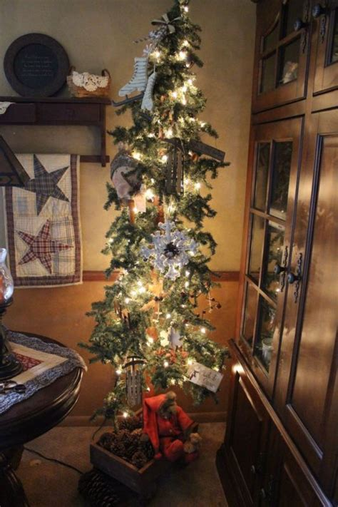 beautiful primitive christmas tree decorations ideas
