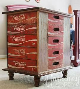 hometalk diy nightstands made from old coke crates With kitchen cabinets lowes with coca cola wall art