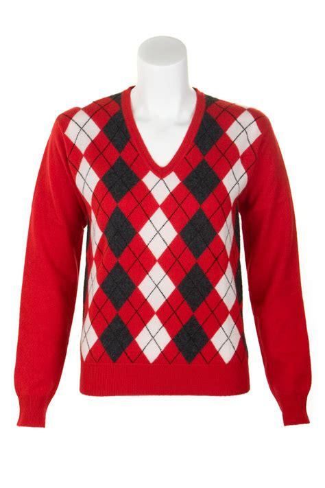 vneck v argyle v neck sweater by scotweb