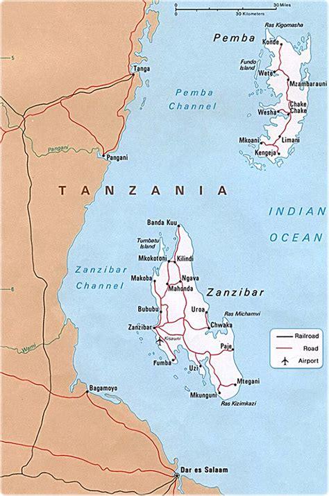 map  zanzibar tanzania