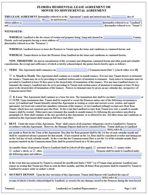 California Rental Lease Agreement Form