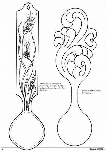 Spoons Spoon Wood Wooden Carving Patterns Welsh