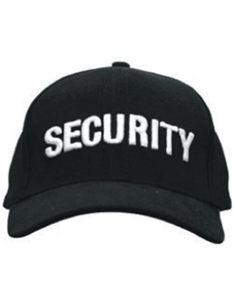 Cap (DC U 0004A) Black with SECURITY (3D) White   US Military