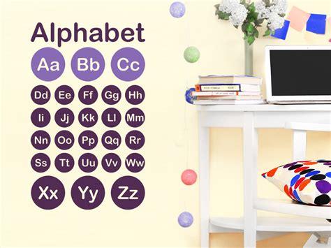 Wandtattoo Alphabet Kinderzimmer by Wandtattoo Alphabet Abc Wandtattoo De