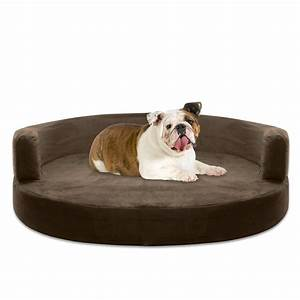 dog bed round deluxe orthopedic memory foam sofa lounge With big round dog bed