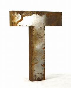 industrial rustic metal large letter t 36 inch kathy kuo With metal letter t