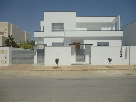 Chambre Nationale Huissier - agréable plan de maison en tunisie 5 villa 1 sef