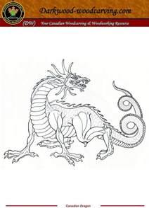 Free Beginner Wood Carving Pattern Dragon