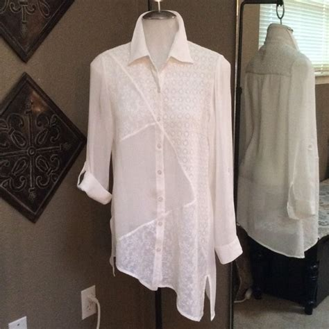 chicos white blouse 68 chico 39 s tops white chico 39 s blouse size 0 from