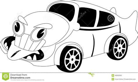 cartoon car black and white cartoon car stock vector image 48260305