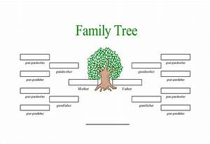 simple family tree template 25 free word excel pdf With draw a family tree template