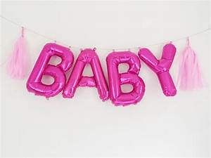 baby letter balloons pink mylar foil letters by With mylar letters