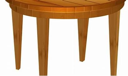 Table Clipart Empty Cartoon Transparent Wood Wooden