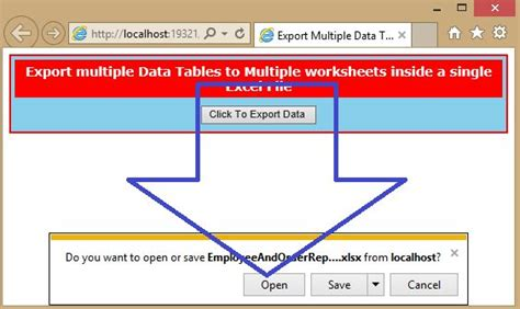export multiple data tables  multiple worksheets