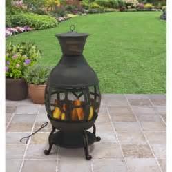 better homes and gardens cast iron chiminea antique bronze walmart