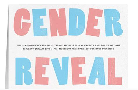creative unique gender reveal party invitation ideas