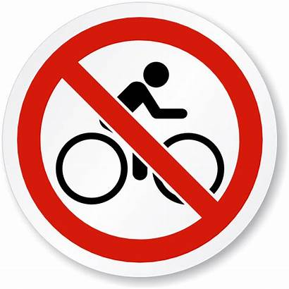 Riding Bike Sign Symbol Cycling Prohibited Clipart