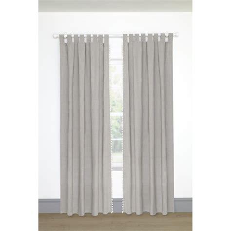 gray striped jute sahaj tab tab top curtains regency