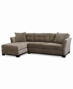 elliot fabric microfiber 2 pc chaise sectional sofa With elliot sectional sofa macy s