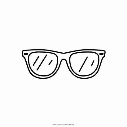 Sunglasses Coloring Colouring Clipart Occhiali Glasses Colorare