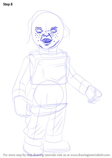 learn   draw chucky characters step  step
