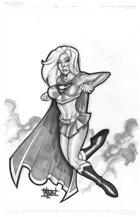 supergirl copic sketch comic art community gallery
