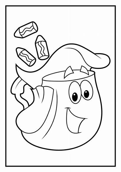 Coloring Diego Pages Rescue Pack Dora